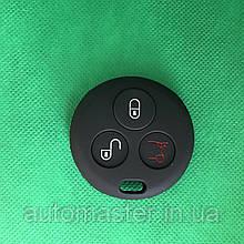 Чехол на ключ 3 кнопкисиликоновый для автомобиля Смарт Smart Fortwo,Roadster 452 Benz Smart City родстер,Cabr