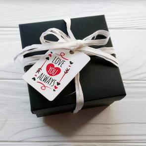Подарочная упаковка коробочка для брелка адресника кулона