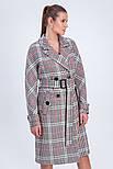Двобортне пальто в клітинку Vam М-657 50, фото 2