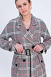 Двобортне пальто в клітинку Vam М-657 50, фото 4