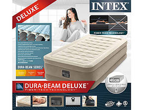 Надувне ліжко intex 64426, 99-191-46см, з вбудованим насосом, фото 3
