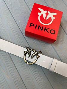 Женский кожаный ремень Пинко реплика Белый