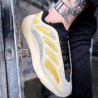 """Мужские кроссовки Adidas Yeezy Boost 700 V3 """"Saflower"""" весна-осень-лето демисезонные. Фото в живую. Реплика"""