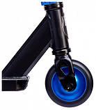 Трюковый самокат Maraton Scorpion с рулевой системой HIC + 2 пеги Синий металлик, фото 2