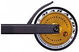 Трюковий самокат Maraton Wall Ride з рульовою системою HIC + 2 пеги, Золото, фото 5