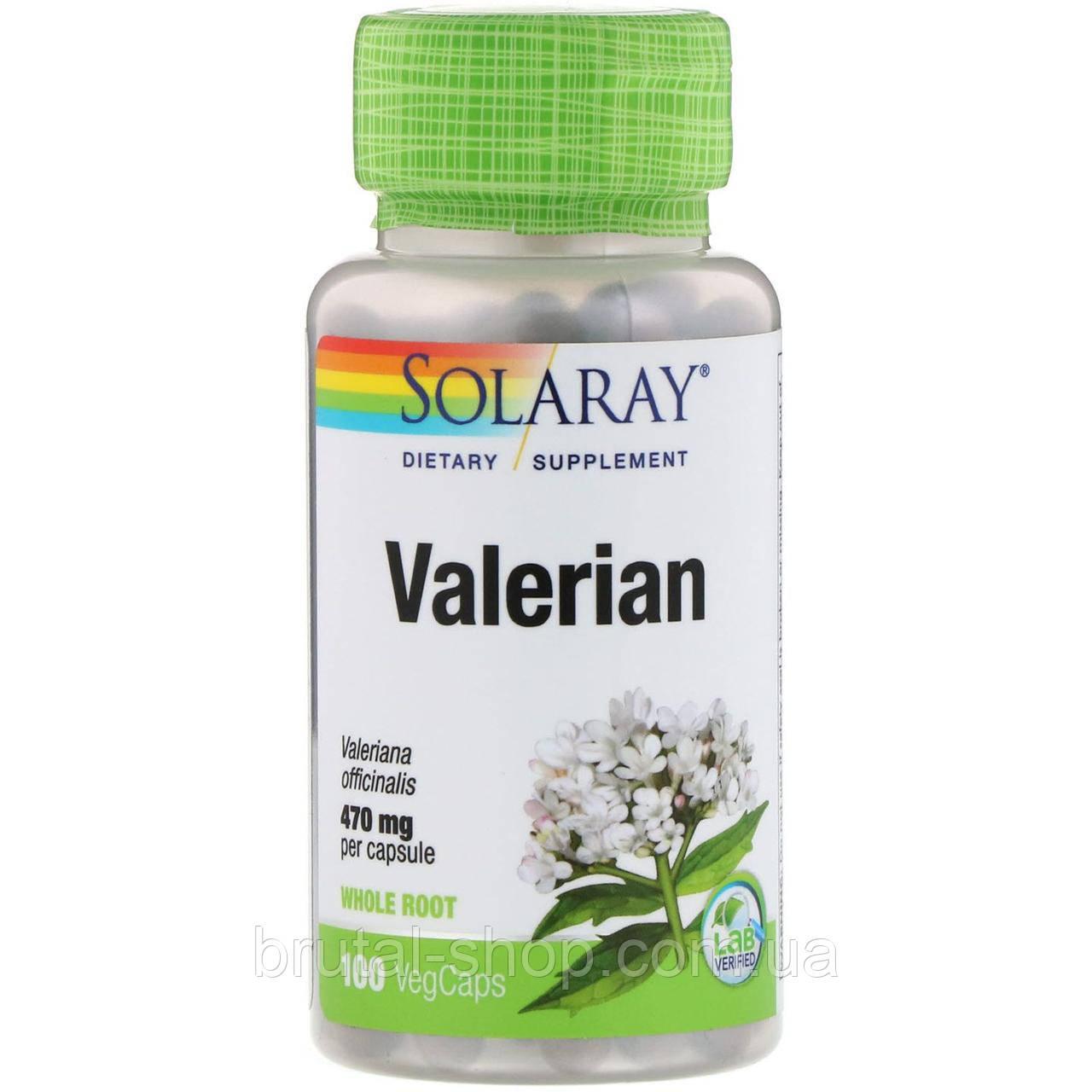 Валериана,   Solaray Valerian 470 mg (100caps)