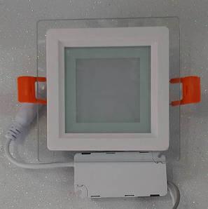 Светильник светодиодный встраиваемый со стеклом