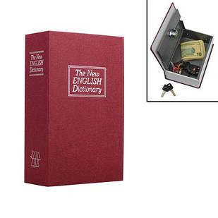 Книга, книжка сейф на ключе, металл, англ словарь S 180х115х55мм, УЦЕНКА W7