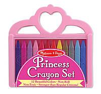 """Крейда полімерна """"Принцеса"""", 12 штук Melissa&Doug (MD4155)"""