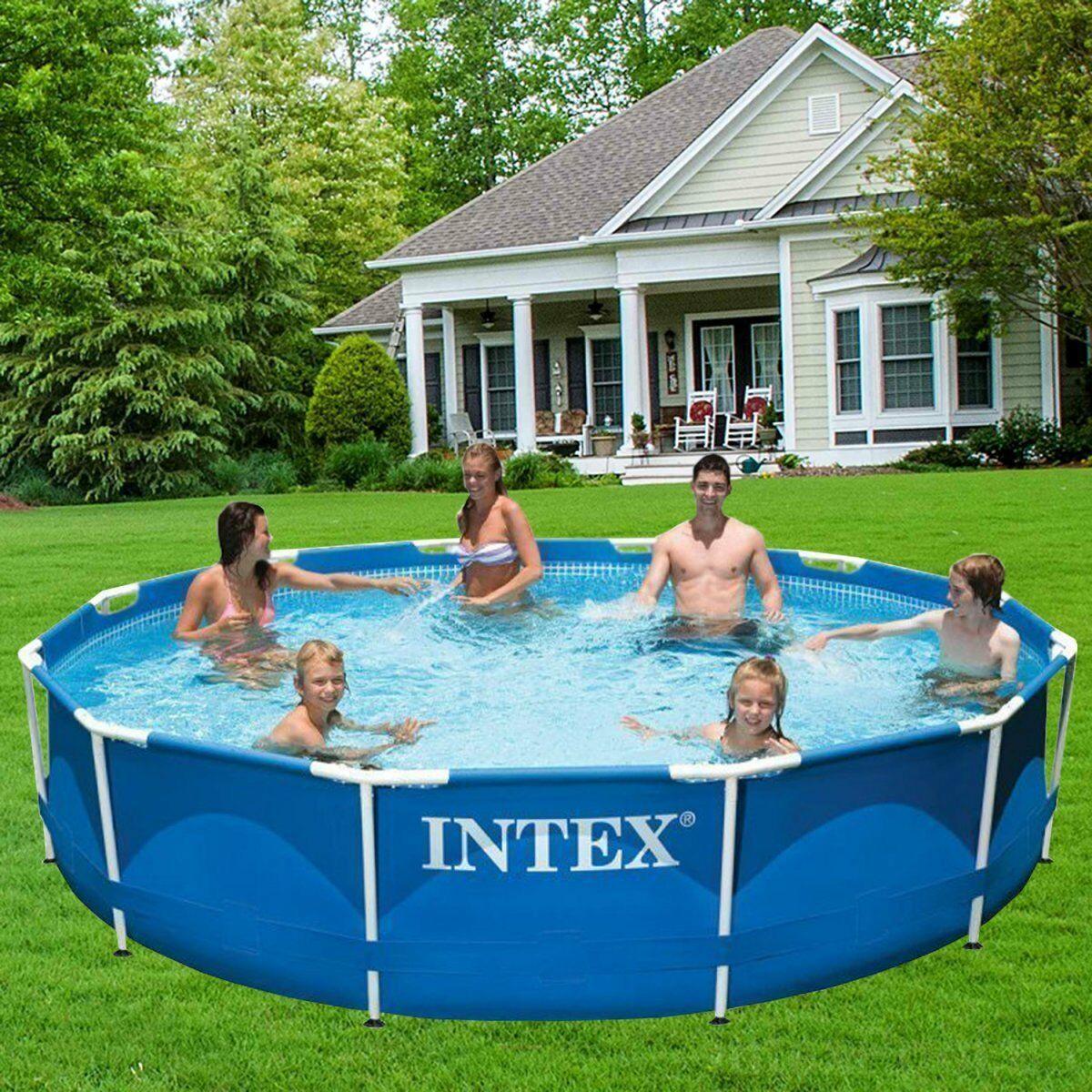 Каркасный бассейн Intex 28212, 366*76 см (2 006 л/ч, насос, объем 6503 л)