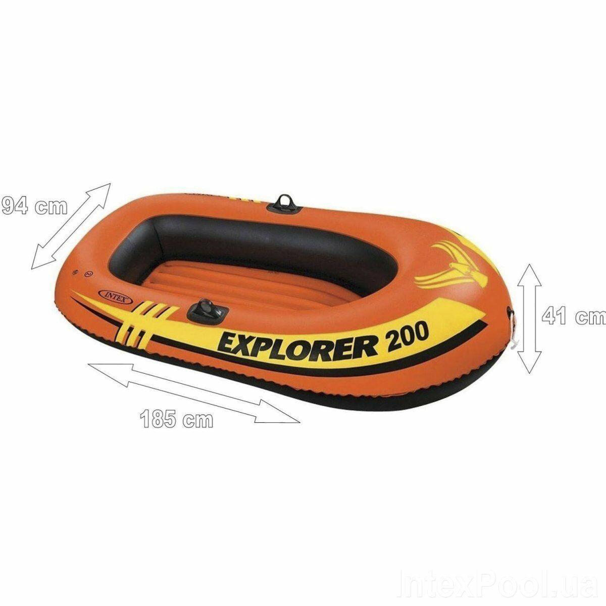 """Човен надувний двомісна Intex 58330 """"EXPLORER 200"""", до 95кг"""