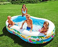 """Дитячий надувний басейн Intex """"Райська лагуна"""" 56490 262*160*46см від 3-х років"""