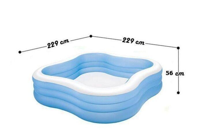 Детский надувной бассейн «Акварена» Intex 57495 (229*229*56 см)