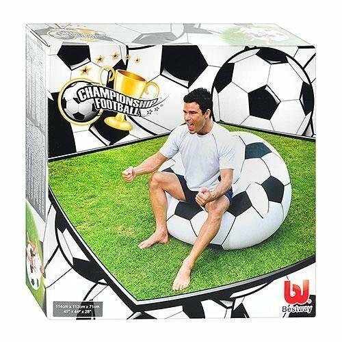 Крісло надувне у вигляді Футбольного м'яча Bestway 75010 (максимальне навантаження до 100 кг)