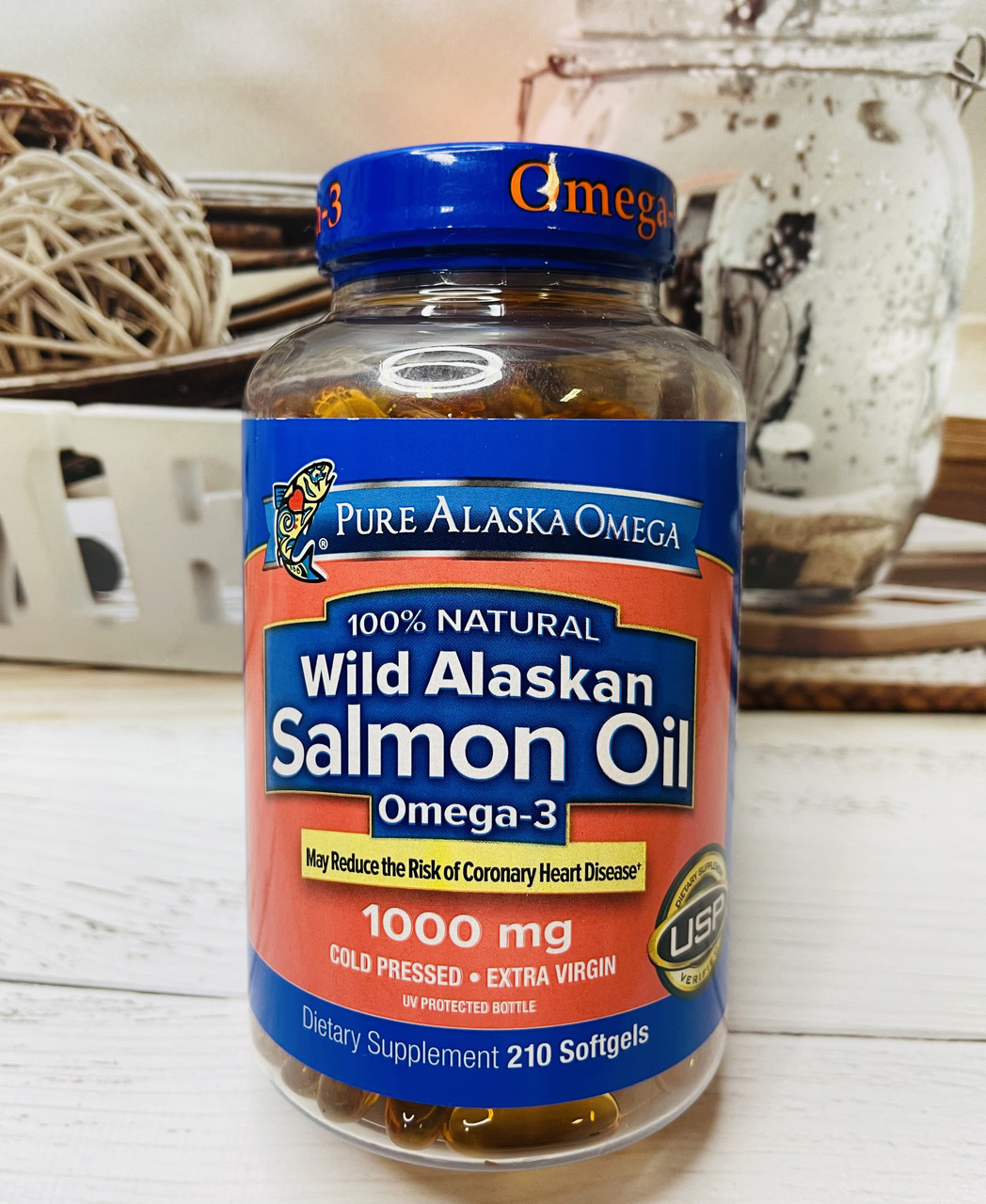 Натуральний риб'ячий жир лосося PURE ALASKA Omega Wild Salmon Oil