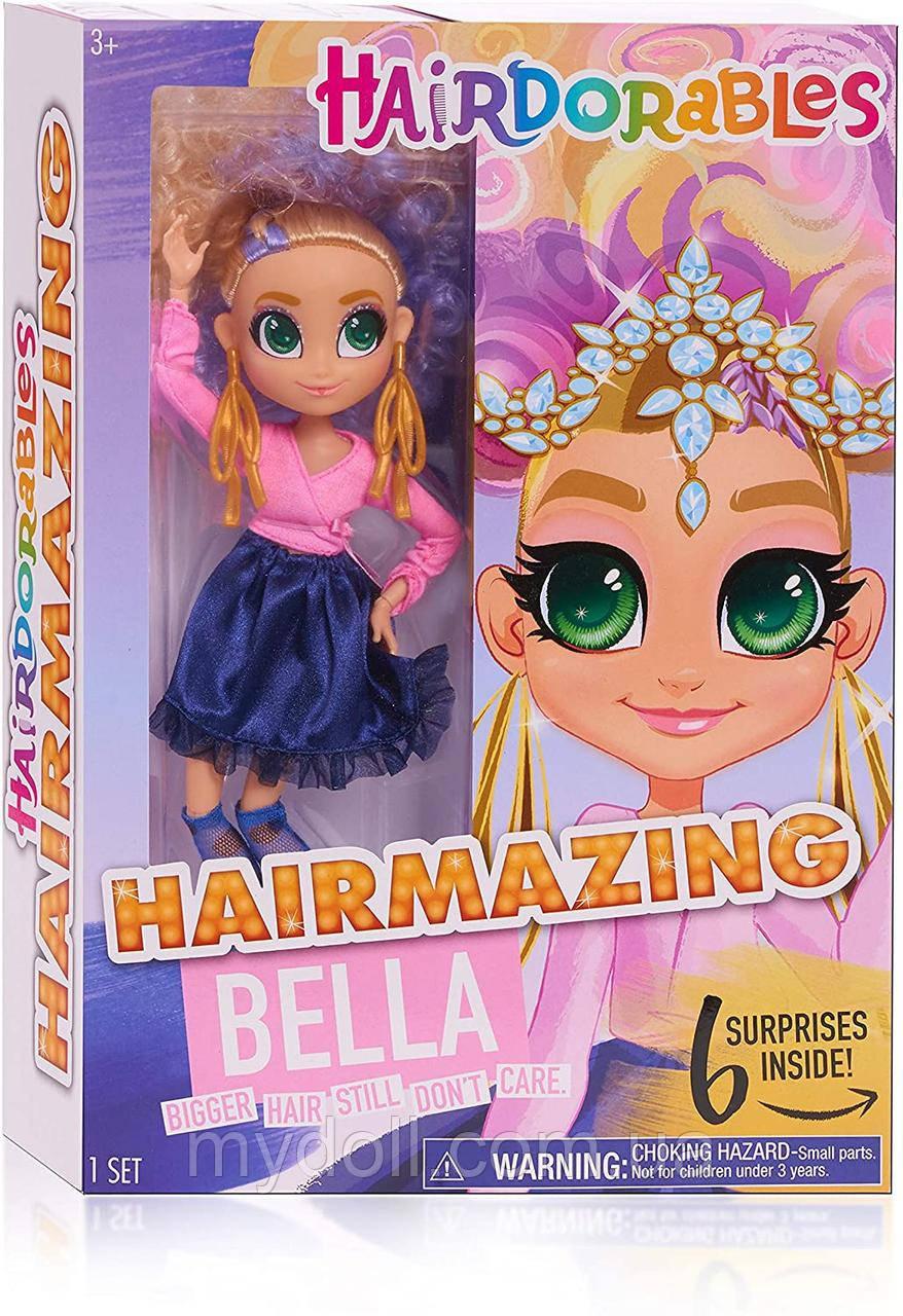 Кукла Hairdorables Fashion dolls Bella с Сюрпризами Hairmazing Хэрдораблс 26 см 23821