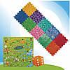 """Массажный коврик с настольной игрой """"Лісові пригоди"""" 10 элементов, фото 3"""