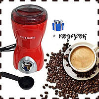 Кофемолка электрическая нержавейка 280W Promotec PM 593 | Кухонный измельчитель кофейных зерен кофе специй