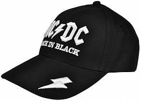 """БЕЙСБОЛКА (3D) AC/DC """"BACK IN BLACK"""" (МОЛНИЯ)"""