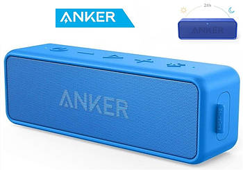 Anker SoundCore 2 Blue Портативная колонка Анкер 12 Вт влагозащищенная IPX7 5200mAh + AUX / Bluetooth 5.0