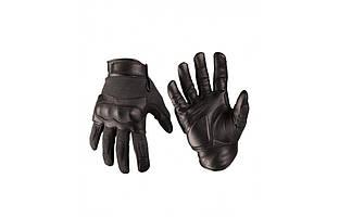 Тактические перчатки из кожи Aramid черные Mil-Tec Германия