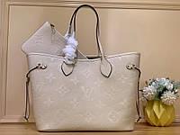 Сумка Louis Vuitton Neverfull кремовая (Луи Витон) арт. 03-472, фото 1