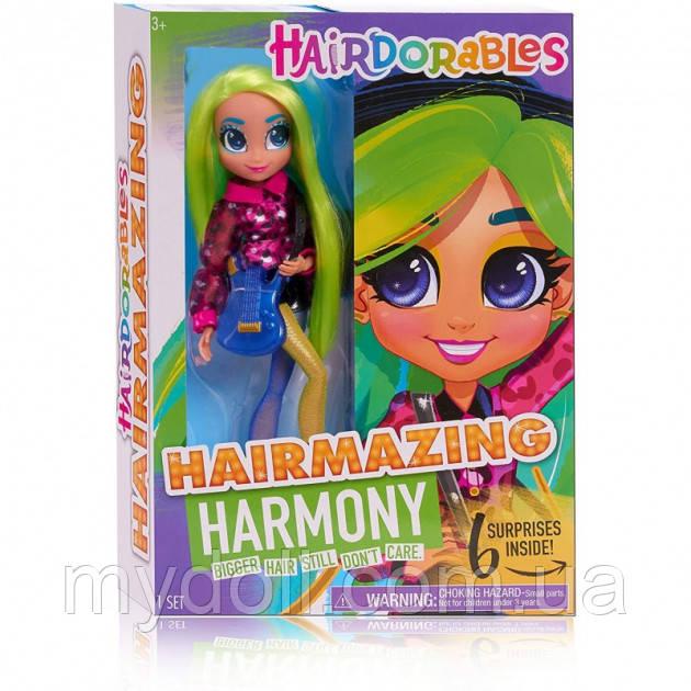 Большая кукла Хэрдораблс Гармония  - Hairdorables Hairmazing Harmony Fashion doll 23833