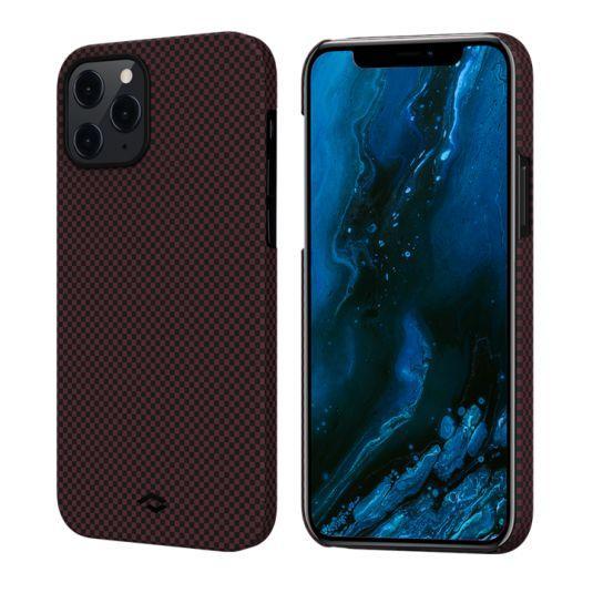 Чехол Pitaka MagEZ Case Plain Apple iPhone 12 Pro Black/Red (KI1204P)