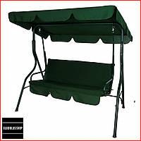 Качели садовые с навесом Bonro Relax (зеленый) Трехместные До 200 кг Большые Навесные Для дома и на дачу