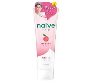 Kracie Naive пінка для вмивання з екстрактом персикових листя і персиковим ароматом, 130 гр