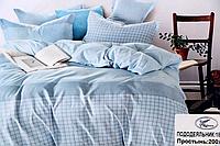 Постельное белье двуспальное KOLOCO голубой окрас