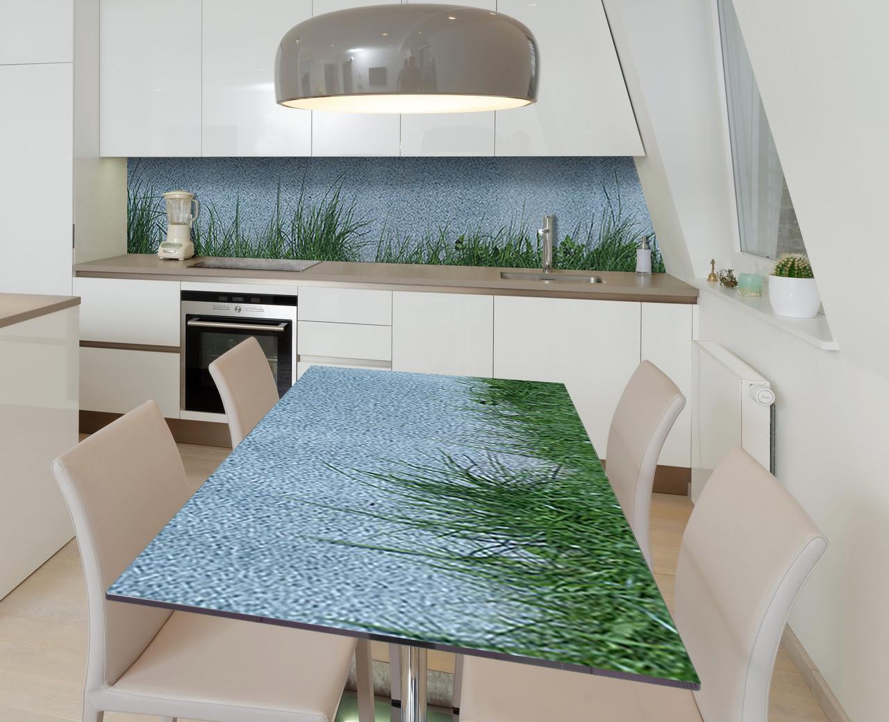 Наклейка 3Д вінілова на стіл Zatarga «На м'якій траві» 600х1200 мм для будинків, квартир, столів, кофеєнь, кафе