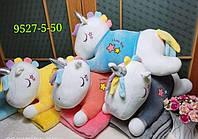 Детская игрушка с покрывалом - Единорожек