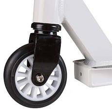 Самокат трюковый  колеса 100 мм белый J010, фото 2