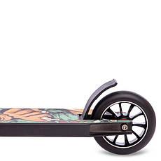 Самокат для трюків колеса d-100 см MICMAX D60, Чорно-салатовий, фото 2