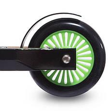 Трюковый самокат с пластиковыми колесами d-100 мм 301B, Салатовый, фото 3