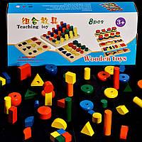 Детская деревянная развивающая игрушка Монтессори 8 в 1 подарок для мальчика и девочки