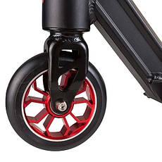 Самокат трюковий з алюмінієвими колесами (вік 8+) D070-BL, фото 2