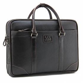 """Сумка мужская кожаная Tom Stone 707 BR для ноутбука 15,6""""коричневая+ кожаный картхолдер в подарок"""