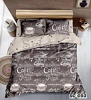 Сатиновое постельное белье Евро размера - Кофе