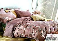Постельное белье двуспальное баклажановое