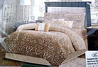 Постельное белье двуспальное бежево-коричневое