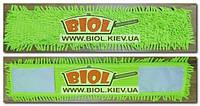 Запаска для швабри 60х12см мікрофібра, макаронів, салатовий Домівка T-1090R, фото 1