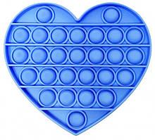 Pop It сенсорная игрушка, пупырка, поп ит антистресс синее сердце