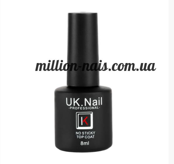 Топ без липкого слоя (No sticky Top coat) от UK.Nail 8 мл.