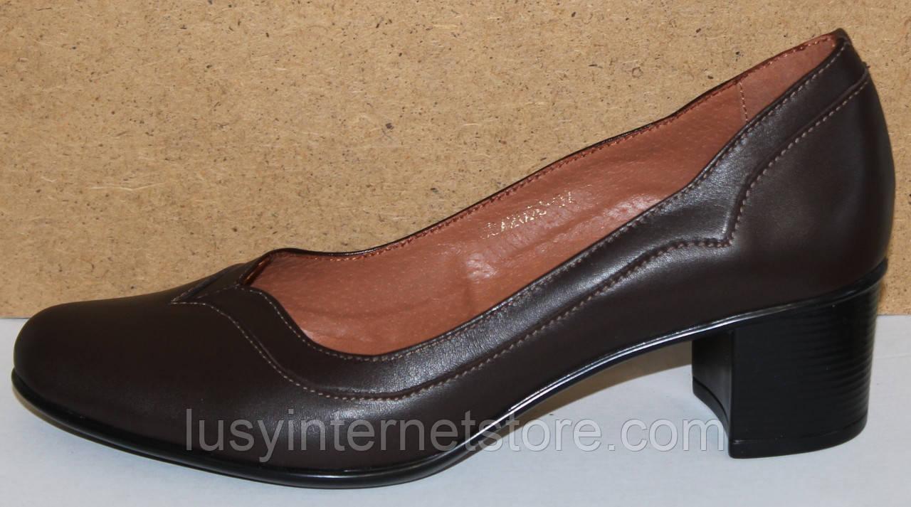 Туфлі жіночі на середньому каблуці від виробника модель КС11