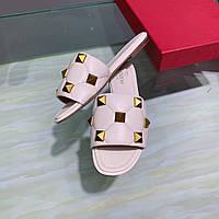 Шлепанцы Valentino кожаные, фото 1
