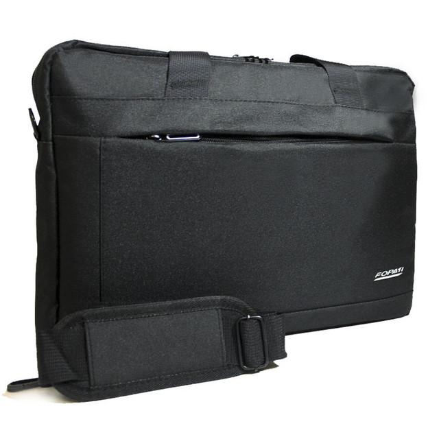 Удобная сумка-портфель для ноутбука на одно отделение со съемным ремнем Два цвета Размеры: 30х40х6