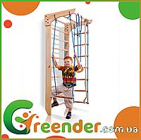 Детские деревянные спортивные комплексы для дома ДСК «Kinder 2-220»