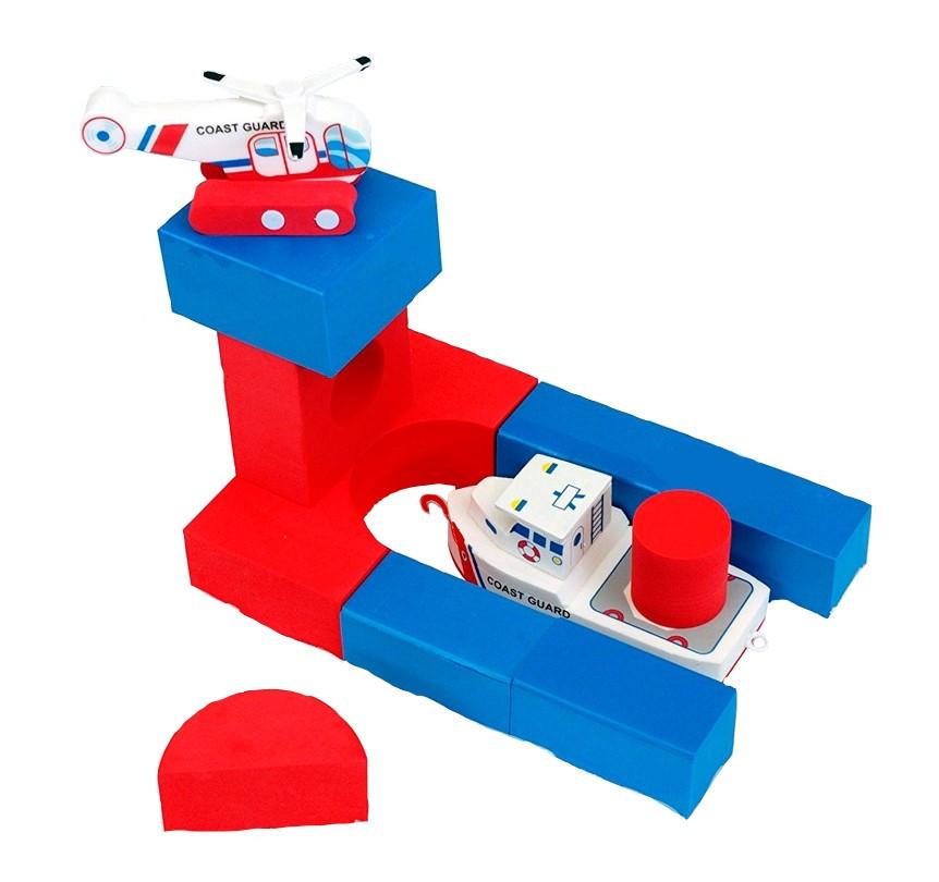 Плавающие блоки для ванной Just Think Toys Лодка и вертолет (22091)